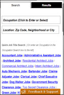 Job Searching mobile website