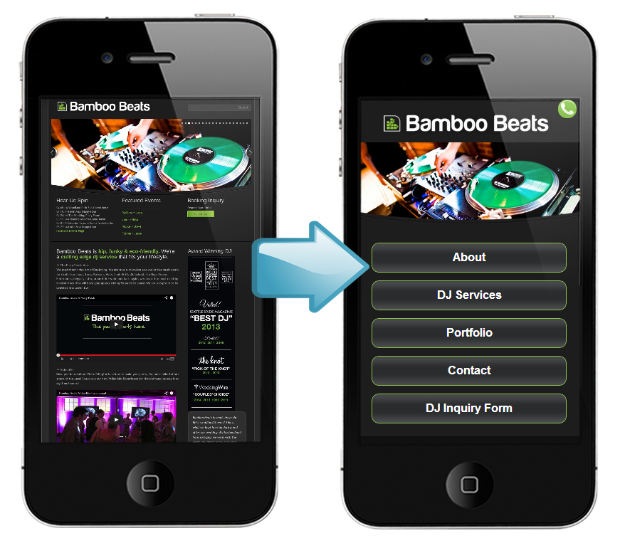 Exceptionnel ... Convert Website To Mobile With Mobile Must Have Design And Development  Best Practices. The Homepage ...