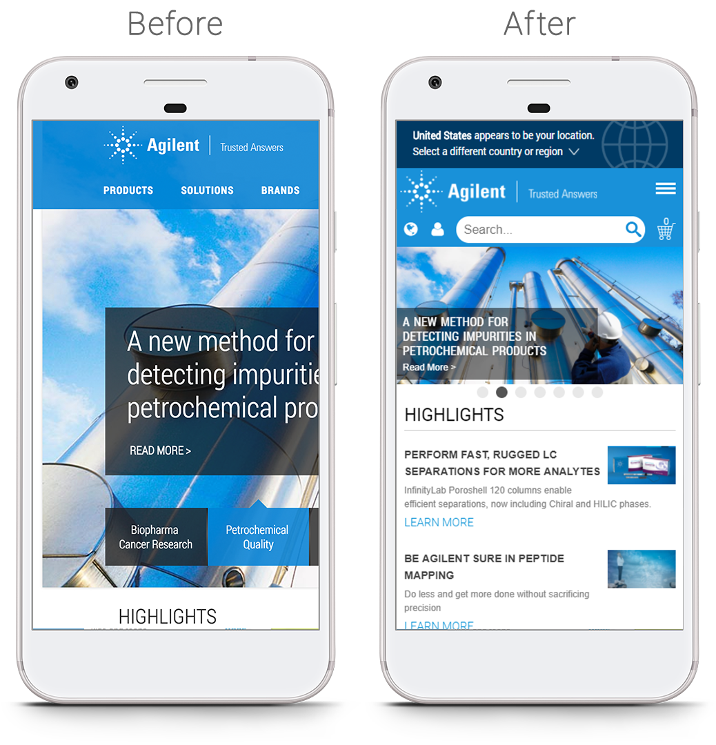 Before And After Mobile Optimized Website Examples